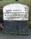 Image for Milestone - Corner of Church Hill and Leeds Road, Bramhope, Yorkshire, UK.