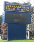 Image for Alhambra High School Time and Temperature Sign - Martinez, CA
