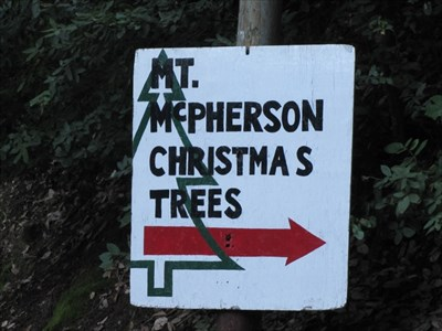 Mt McPherson Sign on Highway 35, Santa Cruz County, CA