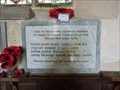 Image for WWII Memorial Plaque - St Margaret - Paston, Norfolk