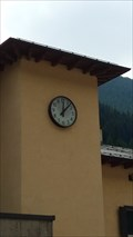 Image for Town clock at the railwaystation - Brenner, Tirol, Italy