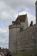 Image for Queen Victoria Cypher Weathervane -- Curfew Tower, Windsor Castle, Windsor, Berkshire, UK