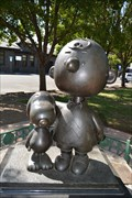 Image for Charlie and Snoopy Bronze Statue