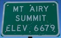 Image for Mt Airy Summit - Elevation 6679 feet