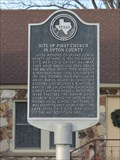 Image for Site of First Church in Upton County