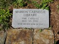 Image for Marion Carnegie Library Time Capsule - Marion, Illinois