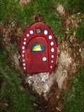 Image for Red Fairy Door with Red Frame - Portpatrick, Scotland, UK