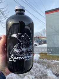 A 32 oz. growler, filled fresh from the tap