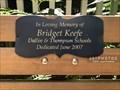 Image for Bridget Keefe dedicated bench - Arlington, Massachusetts