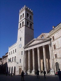one of the churches in Assisi