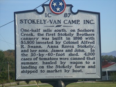 Stokely-Van Camp Inc historical marker.  You may also find interesting as we did a stone marker beside this one commemorating a Methodist Church, a cemetary & a school house for being the 1st public institutions in the wilderness!