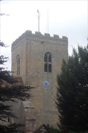 ...tower with weathervane.