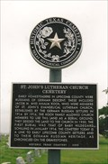 Image for FIRST - Burial in St. John's Lutheran Church Cemetery - Lipscomb, TX
