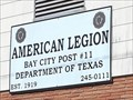 Image for American Legion Post #11 - Bay City, TX