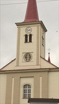 Image for Clock on the Church of St. Mary Magdalen, Kuncice pod Ondrejníkem, Czech republic