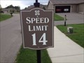 Image for 14 MPH Speed Limit Sign - Holland, Michigan