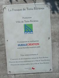 Plaque d'information sur la Fresque.