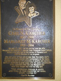 Carl Karchner, and Margaret, developed 4,000 restaurants, were the 4th largest burger site, and employed 19,400 nationally, before their deaths.