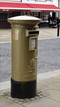 Image for Gold Post Box For Gold Medalist Jason Kenny - Bolton, UK