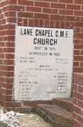 Image for 1935 - Lane Chapel CME Church - Whiteville, TN