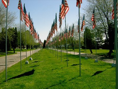 444 Flags mark each day when 53 Americans were held hostage in Iran, 1979 - 1981.