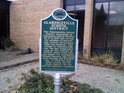 Clarenceville School District Historical Marker