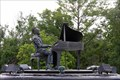 Image for Ray Charles playing his piano - Albany, GA