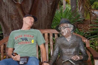 Sit By Me, Marjory Stoneman Douglas   Fairchild Tropical Botanic Garden    Miami, Florida   Sit By Me Statues On Waymarking.com