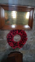 Image for Memorial plaque - St Michael - Wartnaby, Leicestershire