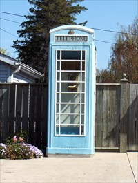 Blue Telephone Box in St Catharines April 2010