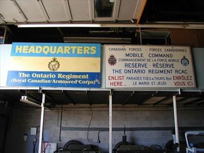 "Ontario Regiment & Canadian Forces ""Enlist Here"""