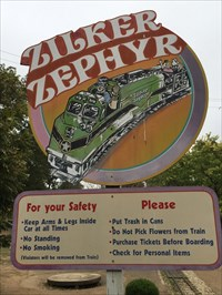 Zilker Zephyr Sign, Austin, Texas