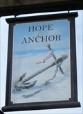 Image for Hope & Anchor - Pub Sign - Denbigh, Clwyd, Wales.