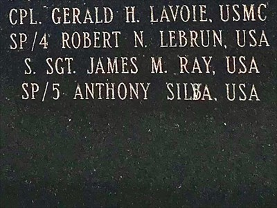 Anthony Silva...or Anthony Silba? The name of this soldier was regrettably misspelled and the attempted correction it does not make clear.