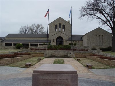 The Museum as seen from the Memorial Garden and Gravesite
