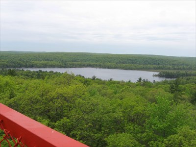 Part of the fire tower can be seen in the photo (the red piece of metal).
