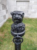 Image for Ruthven NHS dog-head hitching post - Cayuga, Ontario