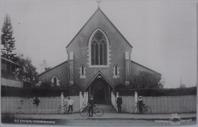 """An even earlier photo, of the earlier build of the church - taken in 1909 Courtesy again: """"St Mary"""