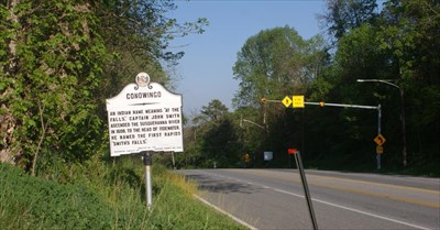 Looking east along US 1 at the Conowingo marker