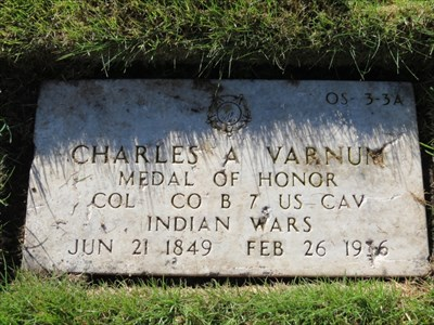 Charles A Varnum, Medal of Honor, San Francisco National Cemetery