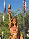 Image for Wooden Statue of Liberty - Oakhurst California
