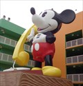 Image for Ginormous Mickey Mouse Telephone - Pop Century Resort, Lake Buena Vista, Florida, USA.