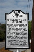 Image for Friendship A.M.E. Church 10-38 - Mount Pleasant, SC