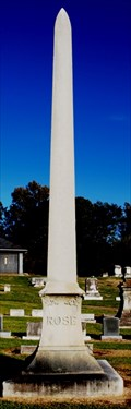 Image for Rose Family Obelisk - Anshe Chesed Cemetery - Vicksburg, MS
