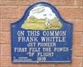 Image for FIRST felt power of flight - Frank Whittle, Coventry, UK