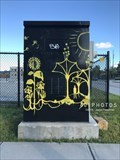 Image for Fantastical Nature painted utility box - Providence, Rhode Island
