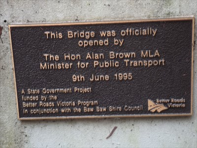 The Opening Plaque for this bridge on June 1995; on the southern side of the western end of the bridge. 1510, Sunday, 8 May, 2016