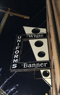 Image for White Banner Uniform Sign - Fargo, ND