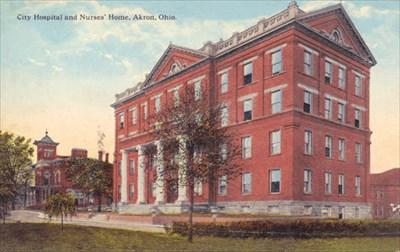 Akron City Hospital - Akron, Ohio - Photos Then and Now on