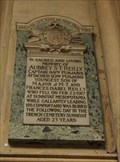 Image for CPT Aubrey S. T. Reilly 69th Punjabis, British Army -- Bath Abbey, Bath, Somerset, UK